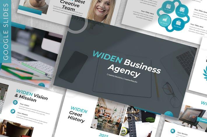 Thumbnail for Widen - Business Google Slide Template