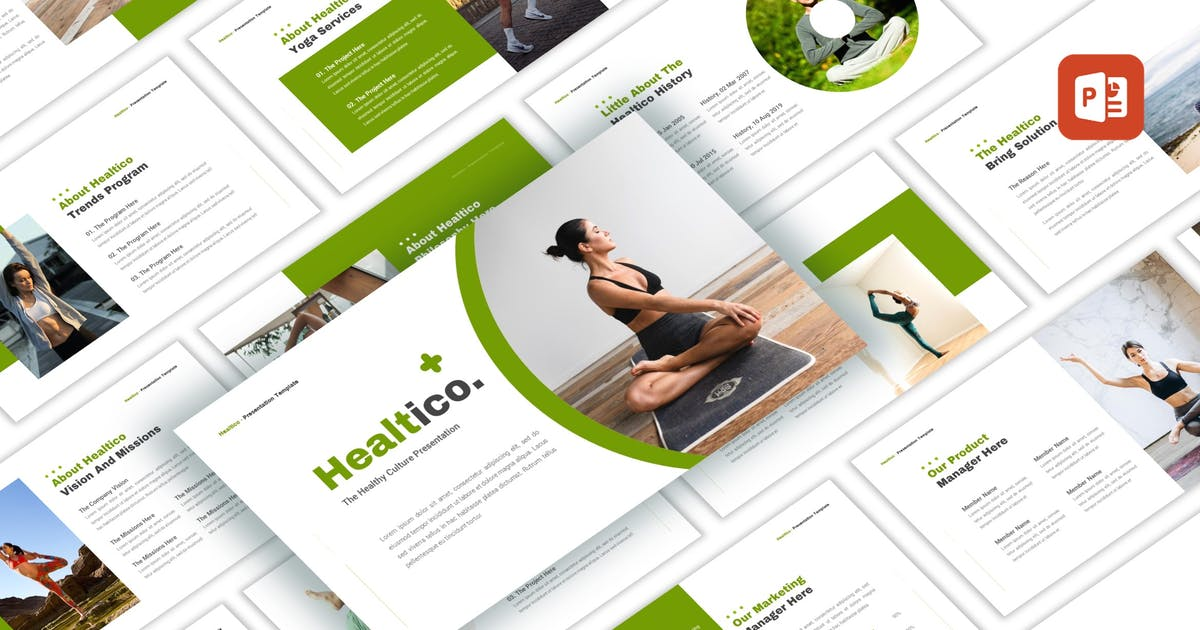 Download Healtico - Healthy Culture PowerPoint Template by CocoTemplates