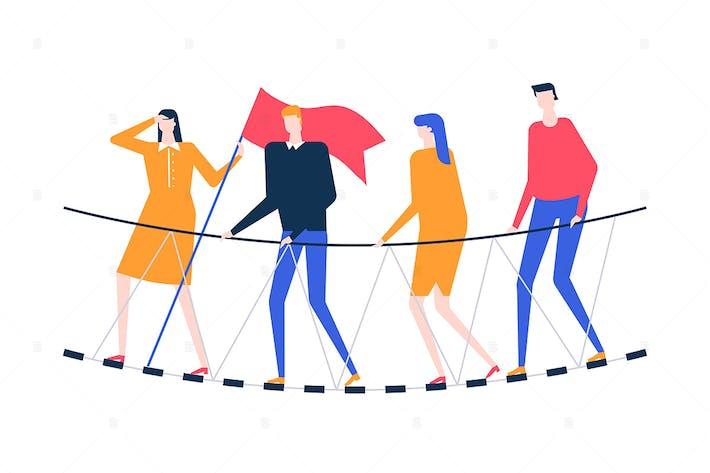 Thumbnail for Motivation - flat design style illustration
