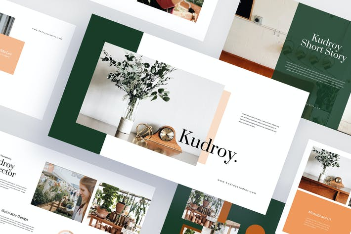 Thumbnail for Kudroy - Botanicals Powerpoint Template