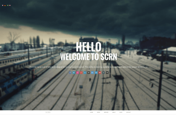 Thumbnail for SCRN - Responsive Parallax Joomla Template