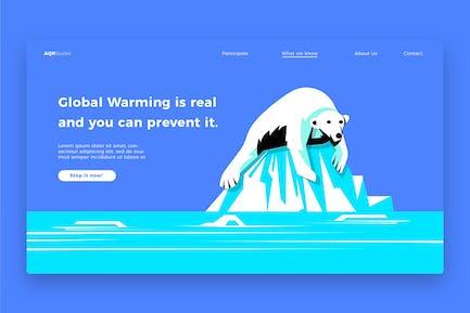 Global Warming - Banner & Landing Page