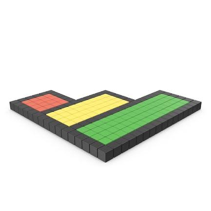 Icono pixelado de la barra de clasificación