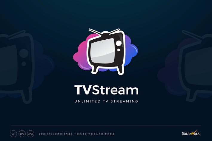 Thumbnail for Cloud TV Streaming Logo Template