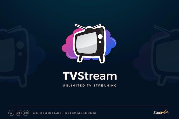 Cloud TV Streaming Logo Template