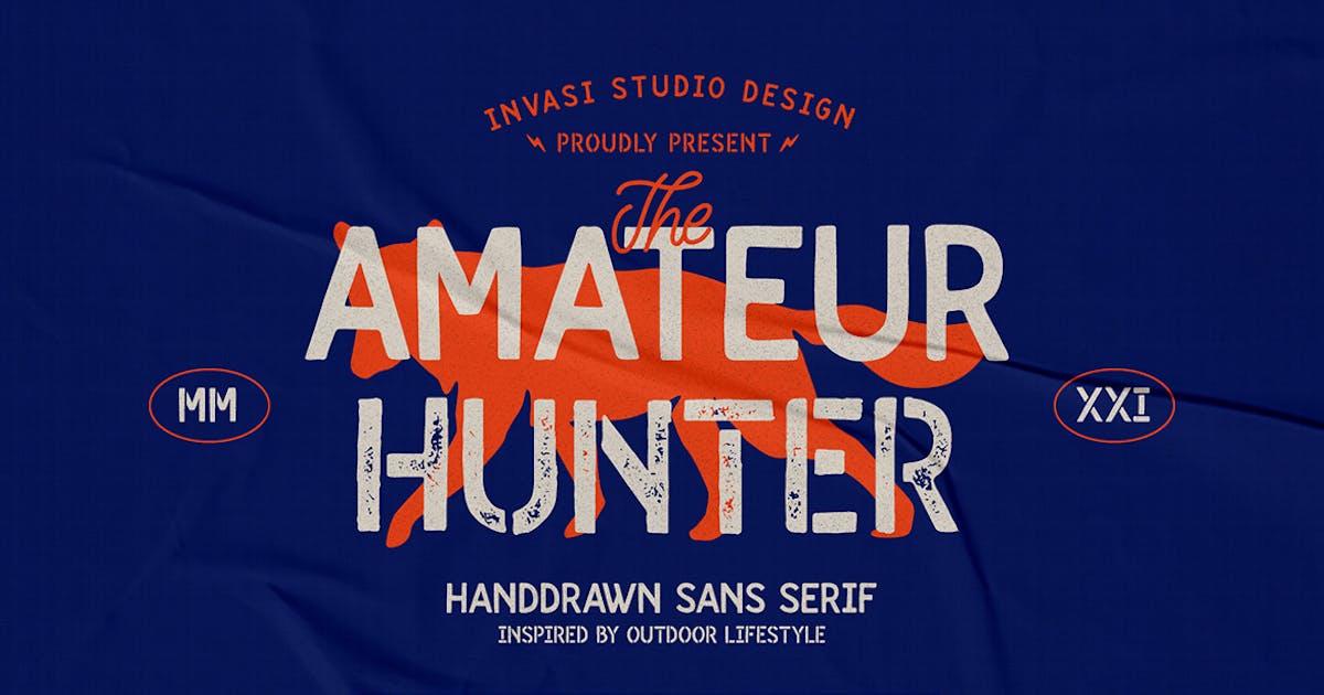 Download Amateur Hunter - Handdrawn sans by InvasiStudio