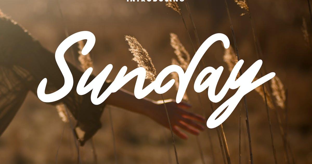 Download Sunday Handwritten Script Font by studiotopia