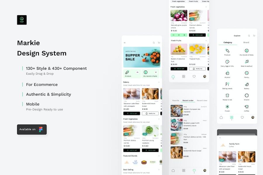 Markie Design System - Grocery Mobile Ui