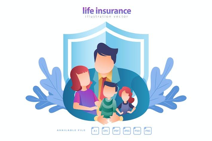 Thumbnail for LIFE INSURANCE - Vector Illustration