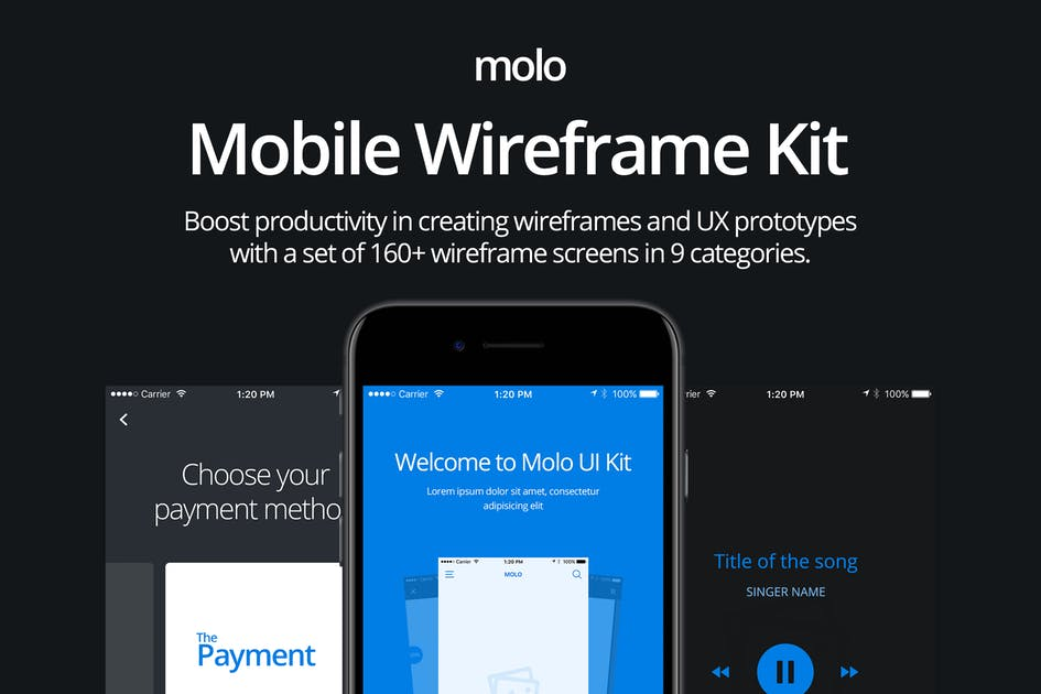 Download molo Mobile Wireframe Kit by CreativesCastle