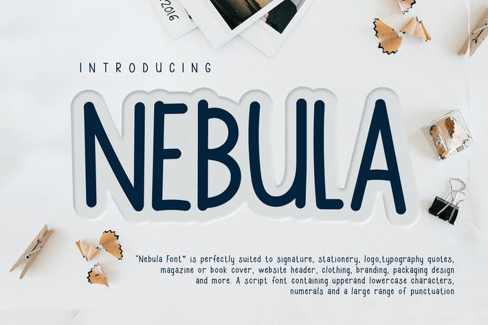 Thumbnail for Nebula Casual Handwriting Font