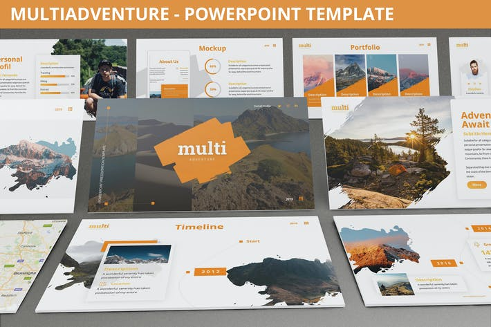 Cover Image For MultiAdventure - Powerpoint Template