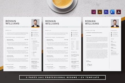 Resume & CV Minimalist - Antemp