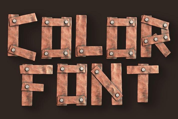 Planches métalliques - 3D Color SVG Font