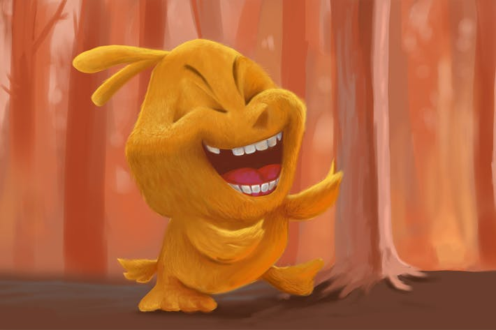 Thumbnail for Laughing Chicks Hand Drawn Digital Painting