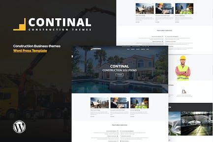 Continal - Construcción & Negocios WordPress Tema