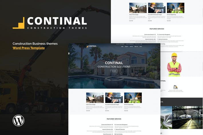 Thumbnail for Continal - Construction & Business WordPress Theme