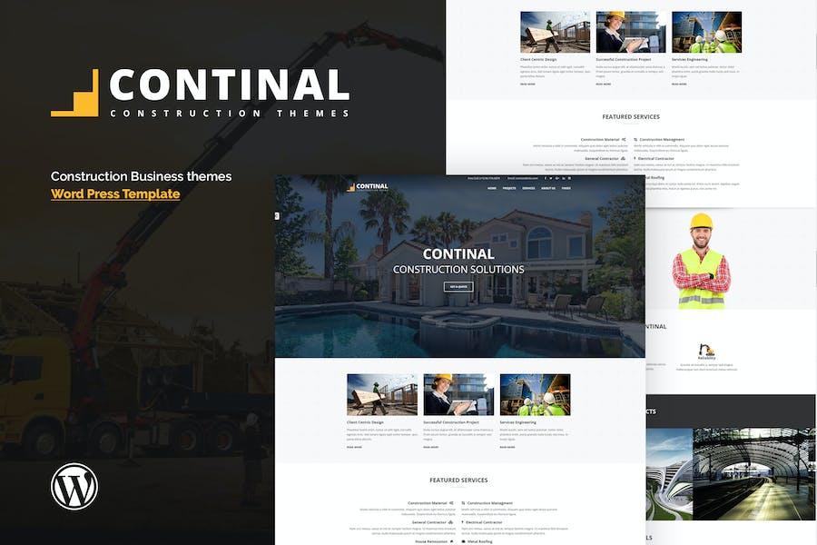 Continal - Construction & Business WordPress Theme