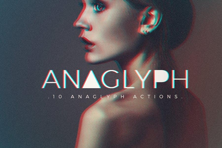 Анаглиф действия Photoshop
