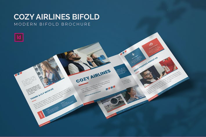 Thumbnail for Cozy Airlines - Bifold Brochure