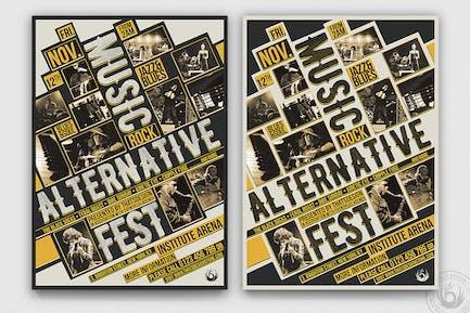 Music Festival Flyer Template V11