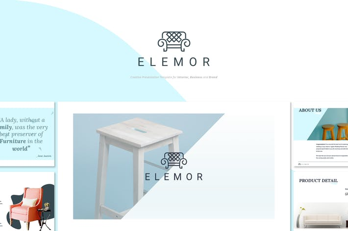 Thumbnail for Elemor - Creative Furniture Google Slides Template