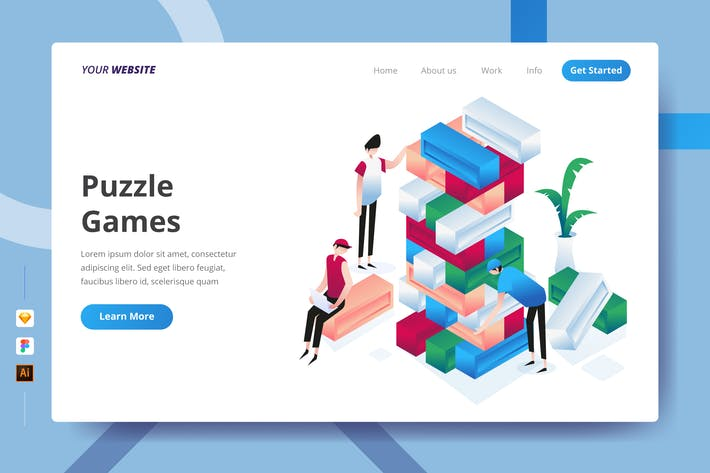 Thumbnail for Puzzle Games - Landing Page