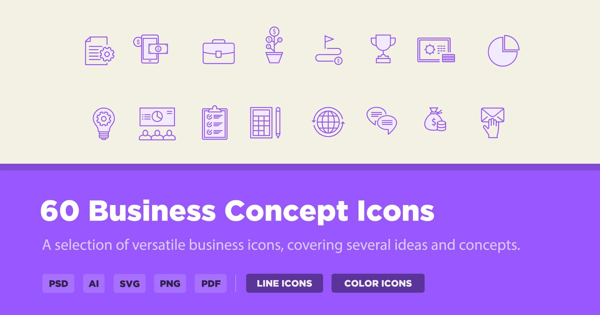 Download 30 Business Concept Icons by creativevip