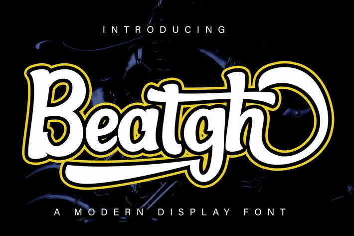 Thumbnail for Beatgh Modern Display Font