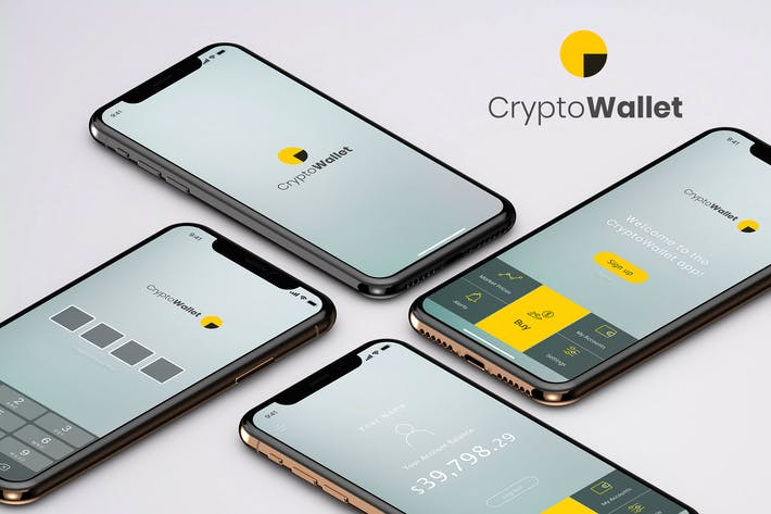 Thumbnail for Crypto Wallet Mobile App Ui Kit -  B