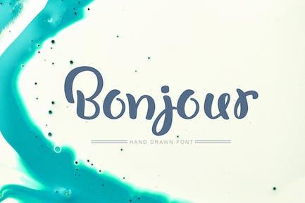 Bonjour - Fuente dibujada a mano