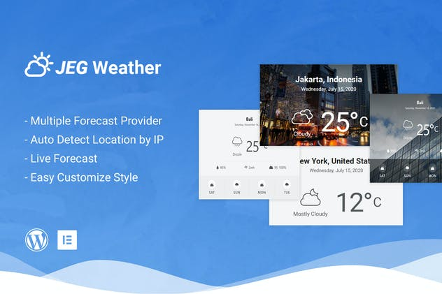 Jeg Weather Forecast Addon WordPress Plugin - product preview 0