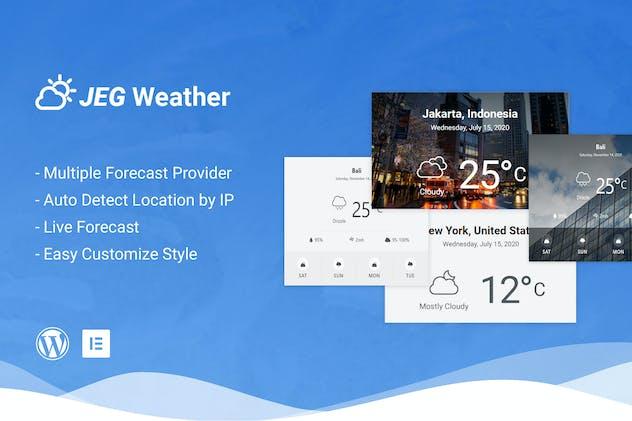 Jeg Weather Forecast Addon WordPress Plugin