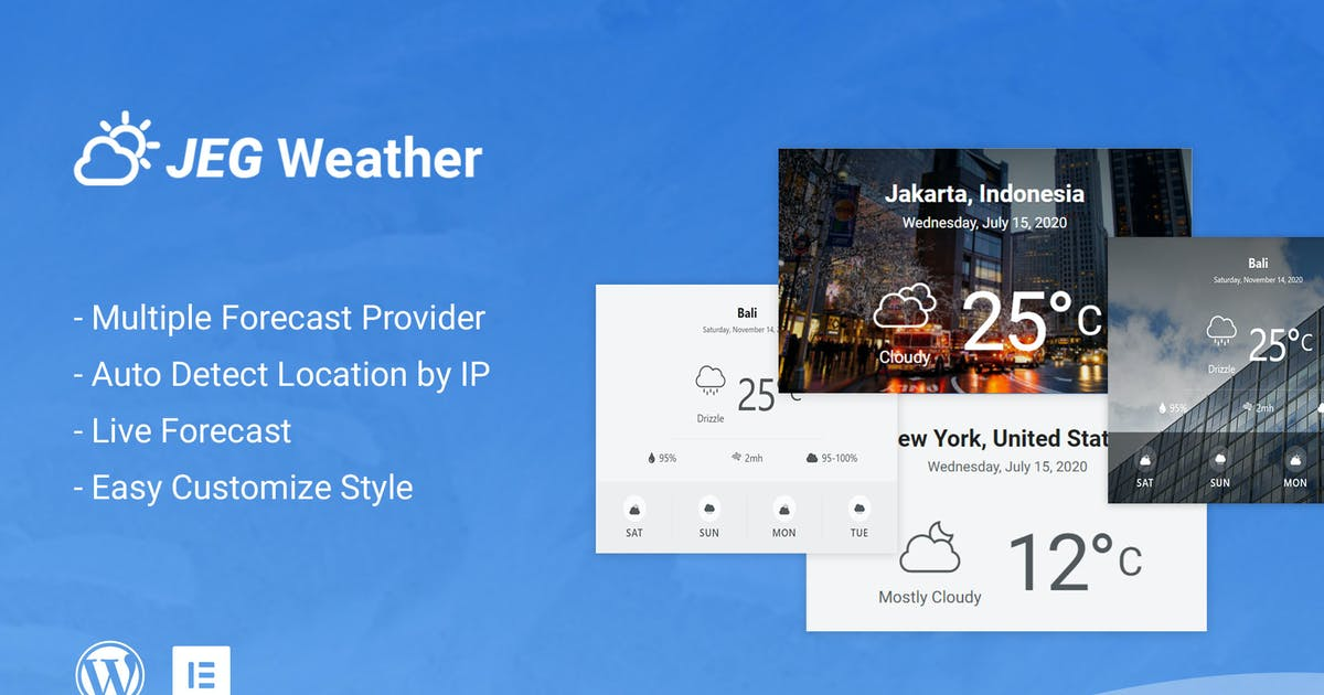 Download Jeg Weather Forecast Addon WordPress Plugin by jegtheme