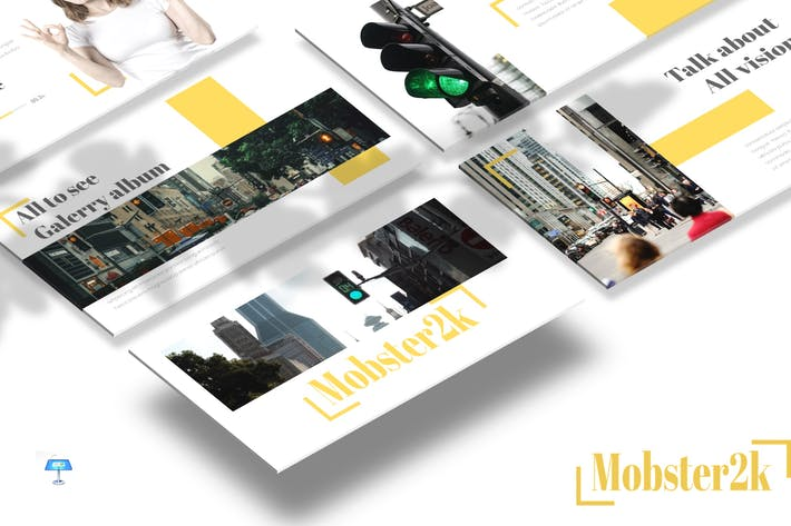 Thumbnail for Mobster - Keynote Vorlage