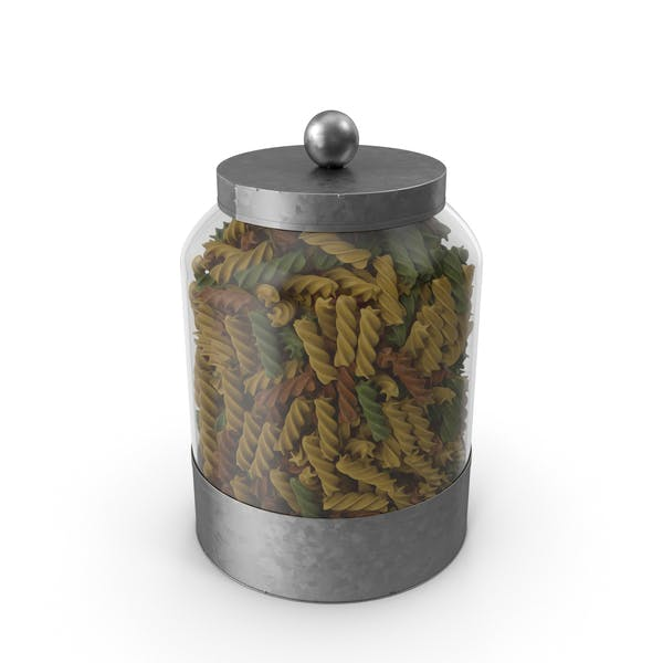 Glass Pasta Canister