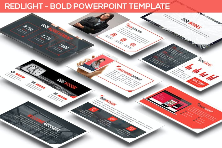 Thumbnail for Redlight - Bold Powerpoint Template