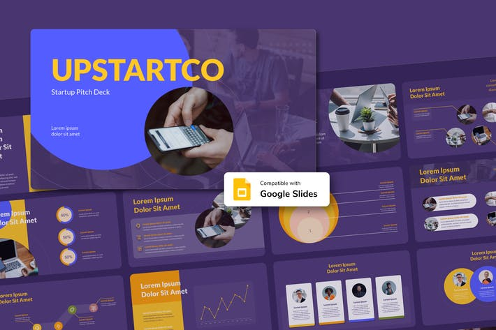 Thumbnail for UPSTARTCO - Startup Google Slides Template
