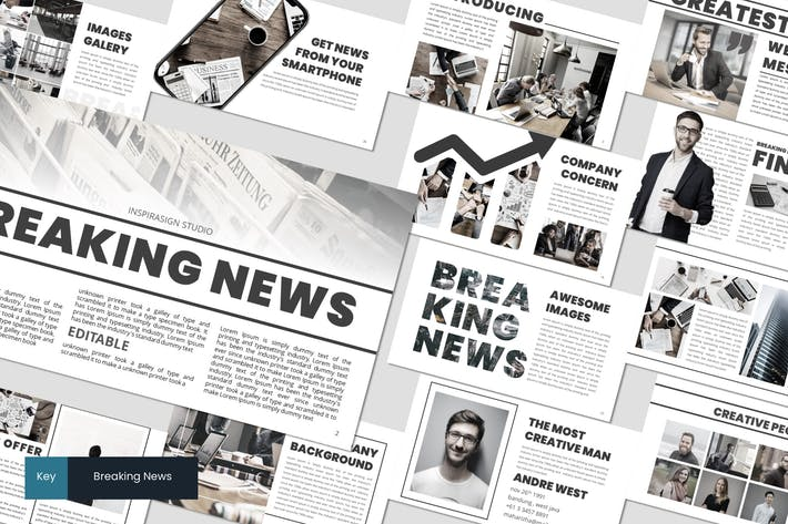 Thumbnail for Breaking News - Keynote Template