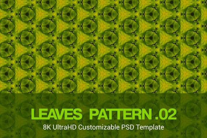 Thumbnail for 8K UltraHD Seamless Leaves Pattern Background