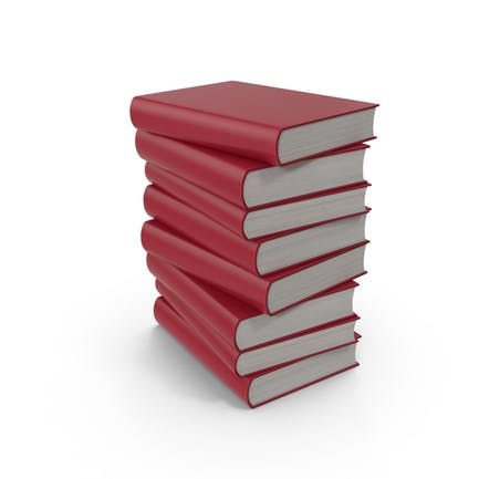 Rotes Buch Stapel