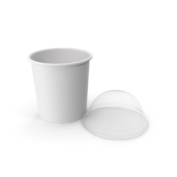 Thumbnail for Paper Food Cup with Clear Lid for Dessert 12 Oz 300 ml Open 2