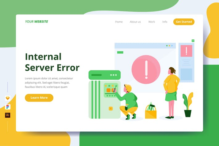 Thumbnail for Internal Server Error - Landing Page