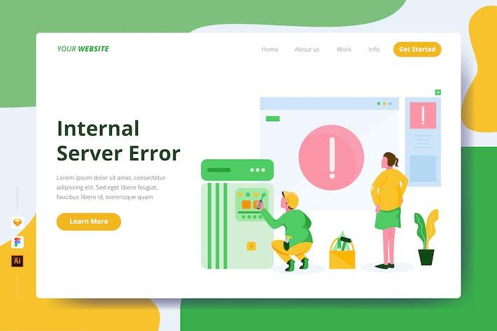 Interner Serverfehler - Zielseite