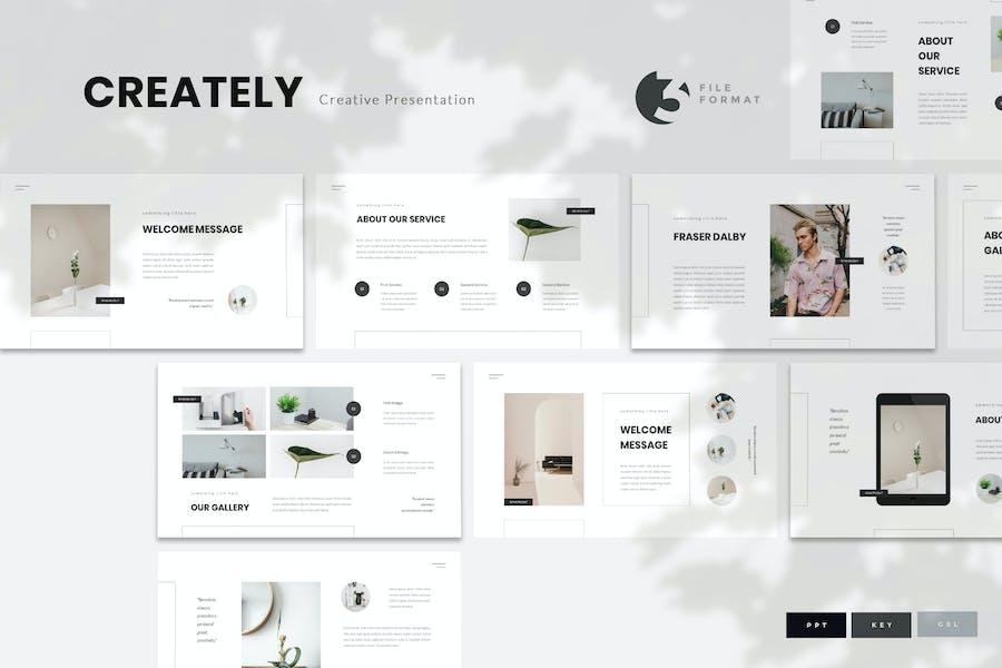 Creately - Creative Presentation Template