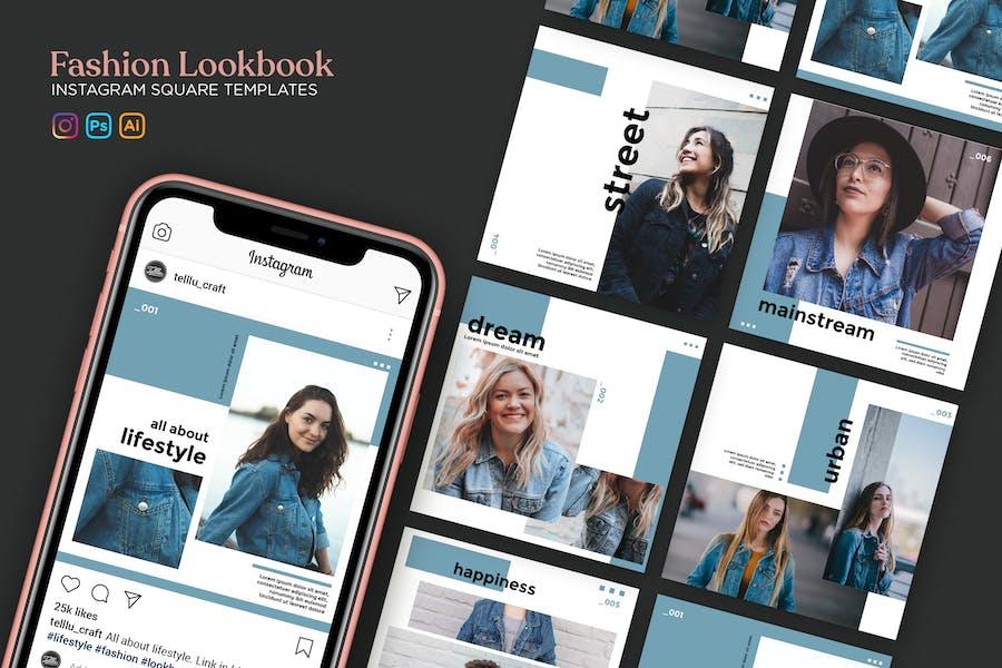 Fashion Lookbook Instagram Square Templates
