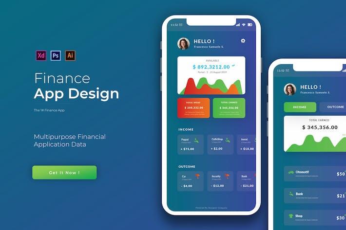 Thumbnail for Finanzen | App Vorlage