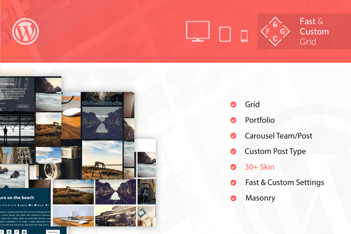 Thumbnail for Fast & Custom Grid - Wordpress Plugin