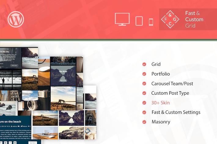 Cover Image For Fast & Custom Grid - Wordpress Plugin