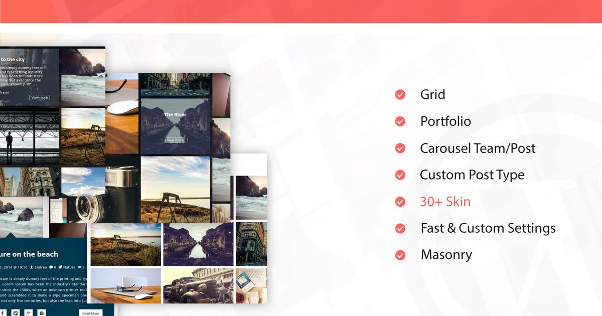 Download Fast & Custom Grid - Wordpress Plugin by ad-theme